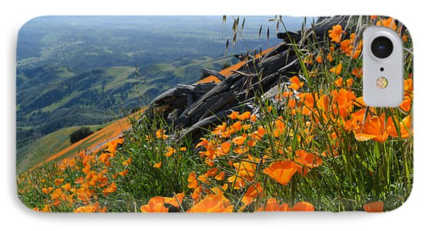 Poppy Mountain  IPhone Case by Kyle Hanson