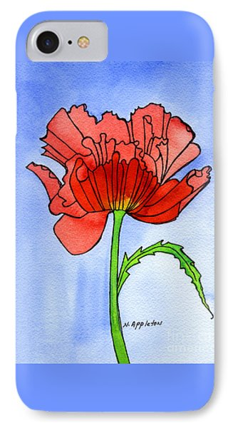 Poppy IPhone Case by Norma Appleton