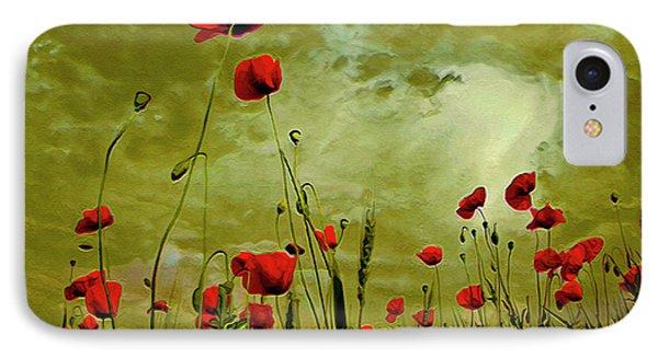 Poppy Petals IPhone Case by  Fli Art