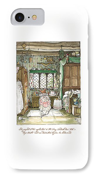 Poppy Puts On Her Wedding Dress IPhone Case by Brambly Hedge