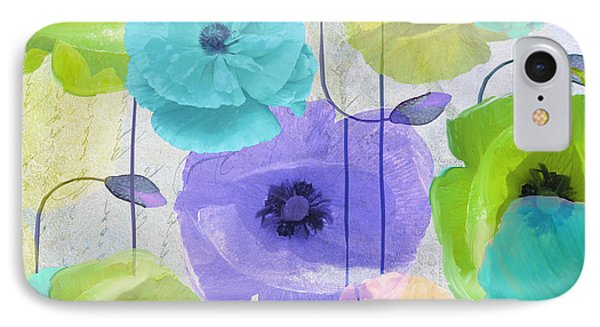 Poppy Shimmer Iv IPhone Case by Mindy Sommers