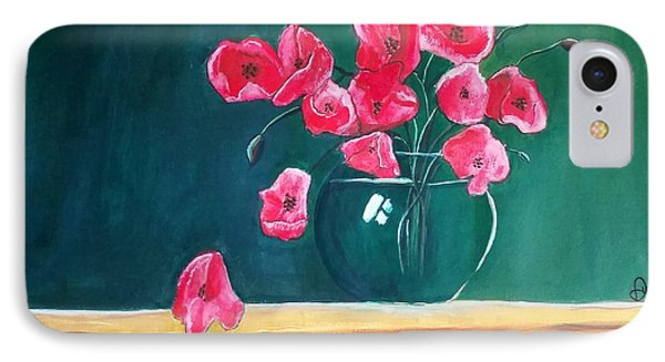 Poppy Still Life IPhone Case by Carol Duarte