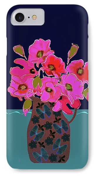 IPhone Case featuring the painting Poppy Stille by Linde Townsend
