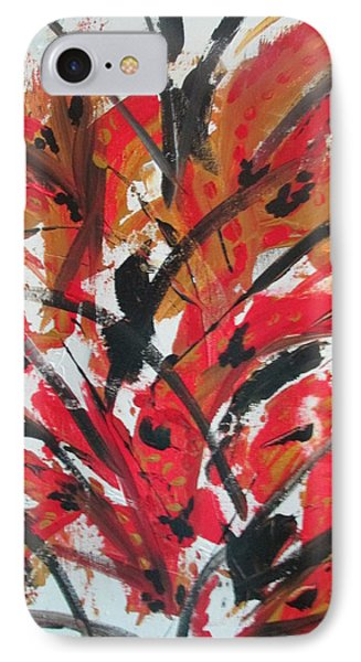 IPhone Case featuring the painting Poppy Storm by Sharyn Winters