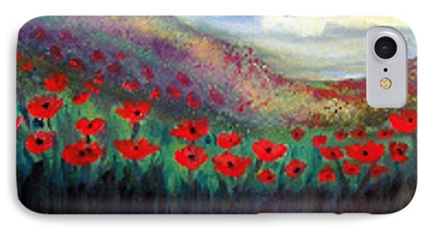 IPhone Case featuring the painting Poppy Wonderland by Holly Martinson