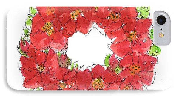 Poppy Wreath IPhone Case