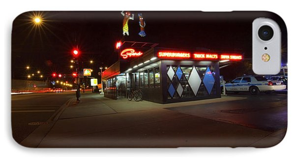 Popular Chicago Hot Dog Stand Night Phone Case by Sven Brogren