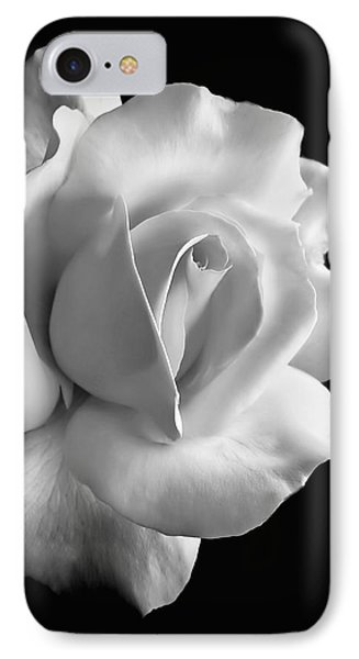 Porcelain Rose Flower Black And White IPhone 7 Case