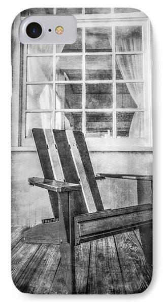 Porch Chair IPhone Case by Debra and Dave Vanderlaan