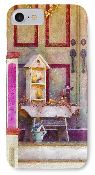 Porch - Cranford Nj - The Birdhouse Collector Phone Case by Mike Savad