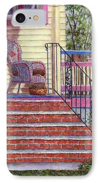 Porch With Basket Phone Case by Susan Savad