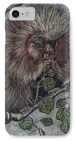 IPhone Case featuring the drawing Porcupine In Aspen by Dawn Senior-Trask