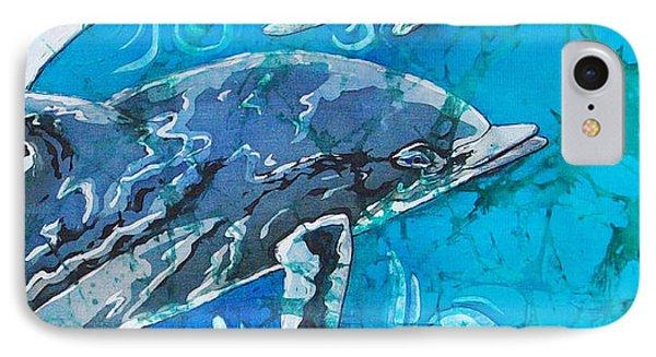 Porpoise Pair - Close Up IPhone Case by Sue Duda