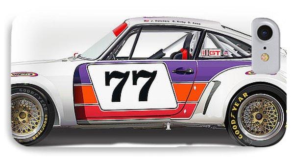 Porsche 1977 Rsr Illustration IPhone Case by Alain Jamar
