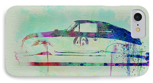Porsche 356 Watercolor IPhone Case by Naxart Studio