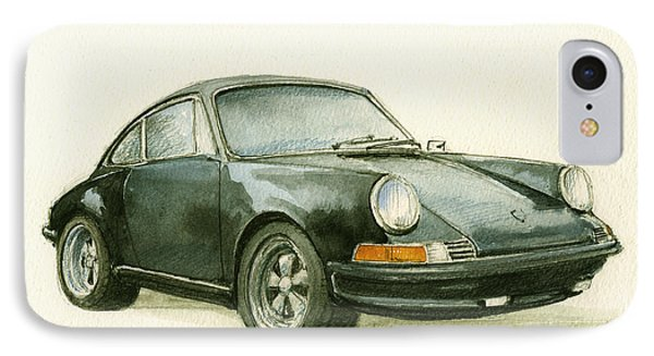 Porsche 911 Classic Car Art IPhone Case by Juan  Bosco