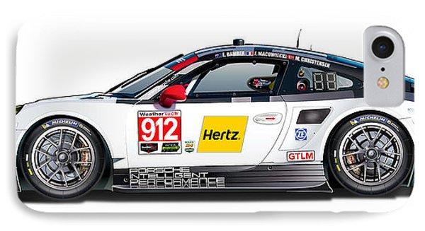 Porsche 911 Gtlm Illustration IPhone Case