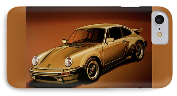 Car iPhone 7 Case - Porsche 911 Turbo 1976 Painting by Paul Meijering