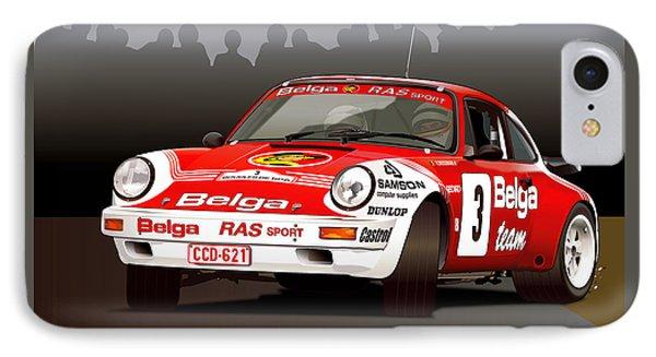 Porsche 911 Rally Illustration IPhone Case