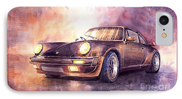 Car iPhone 7 Case - Porsche 911 Turbo 1979 by Yuriy Shevchuk