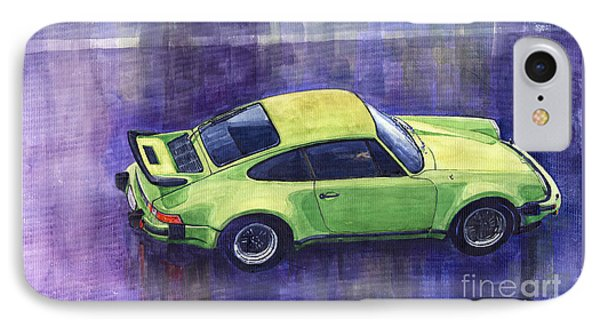 Porsche 911 Turbo Green IPhone Case by Yuriy  Shevchuk