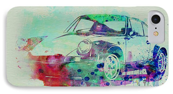 Porsche 911 Watercolor 2 IPhone Case