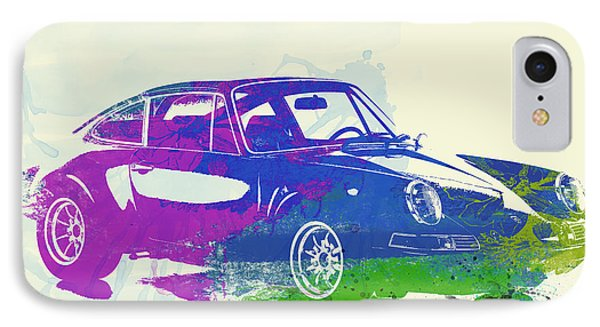 Porsche 911 Watercolor IPhone Case by Naxart Studio