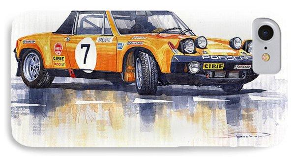 Porsche 914-6 Gt Rally IPhone Case by Yuriy  Shevchuk