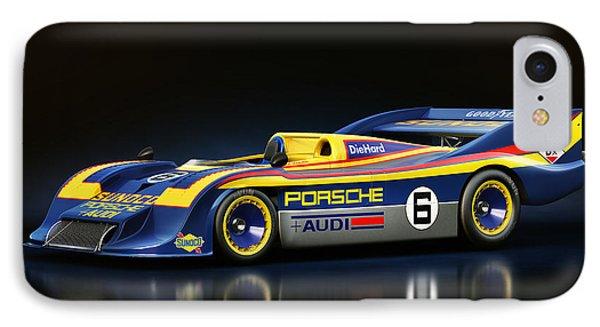 IPhone Case featuring the digital art Porsche 917/30 by Marc Orphanos
