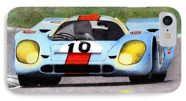 Porsche 917k Pedro Rodriguez 1970 Phone Case by Ugo Capeto