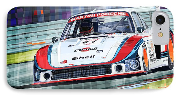 Porsche 935 Coupe Moby Dick Martini Racing Team IPhone Case by Yuriy  Shevchuk