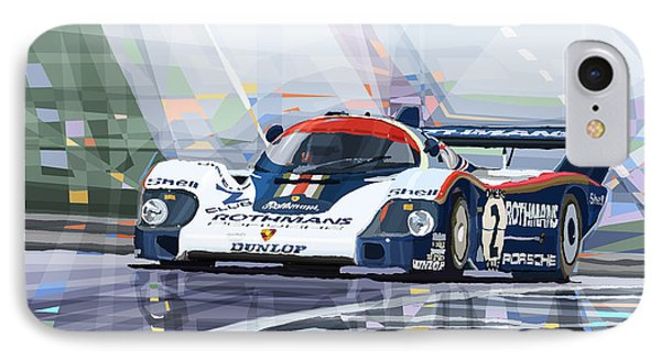 Porsche 956 Rothmans 1982 1000km Francorchamps Derek Bell IPhone Case
