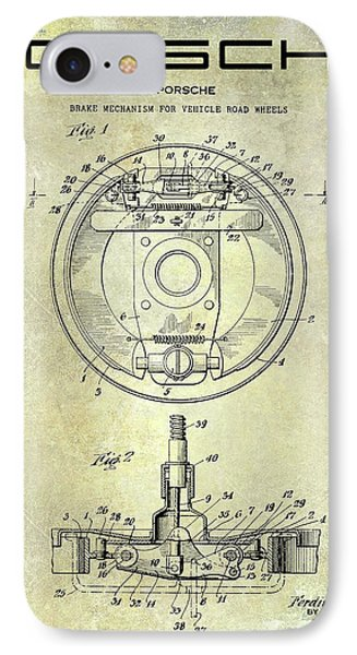 Porsche Brake Mechanism Patent IPhone Case