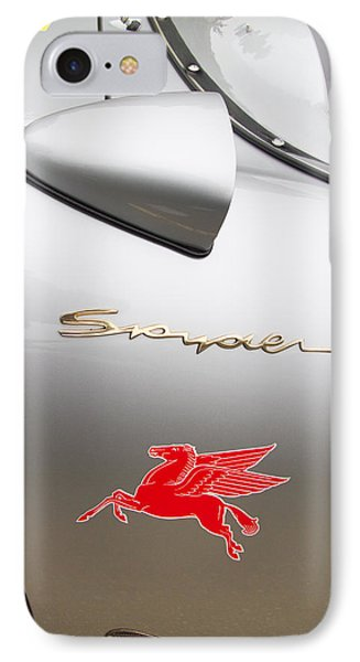 Porsche Spyder And The Flying Red Horse IPhone Case by Roger Mullenhour