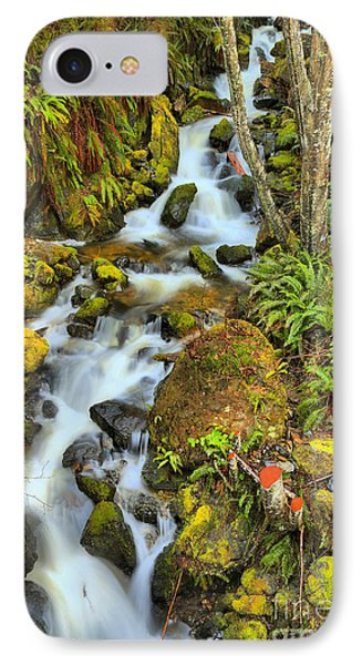 Port Alice Rainforest Falls IPhone Case by Adam Jewell