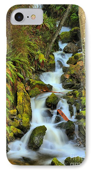 Port Alice Waterfall IPhone Case by Adam Jewell