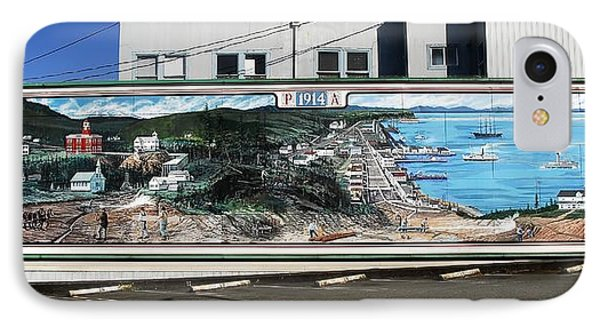 Port Angeles 1914 Mural Phone Case by David Lee Thompson