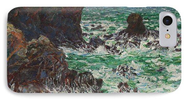 Port Coton, Le Lion, 1886 IPhone Case by Claude Monet