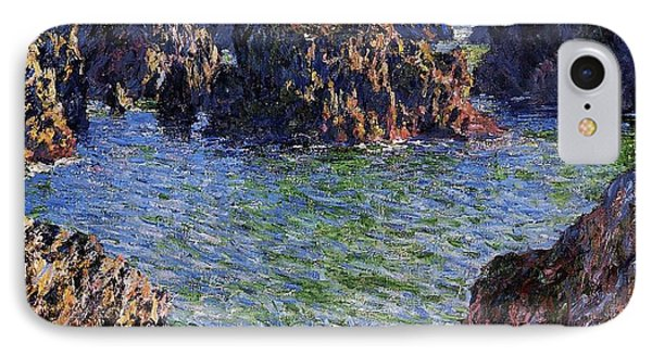 Port Goulphar Belle Ile Brittany IPhone Case by Claude Monet