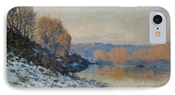 Port Marly, Hoarfrost  IPhone Case by Alfred Sisley