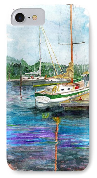 IPhone Case featuring the painting Port Mcneil Bc by Eric Samuelson