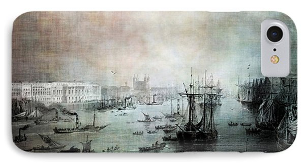 Port Of London - Circa 1840 Phone Case by Lianne Schneider