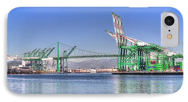 IPhone Case featuring the photograph Port Of Los Angeles - Panoramic by Jim Carrell