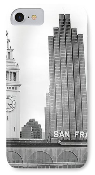 Port Of San Francisco Black And White- Art By Linda Woods IPhone Case by Linda Woods