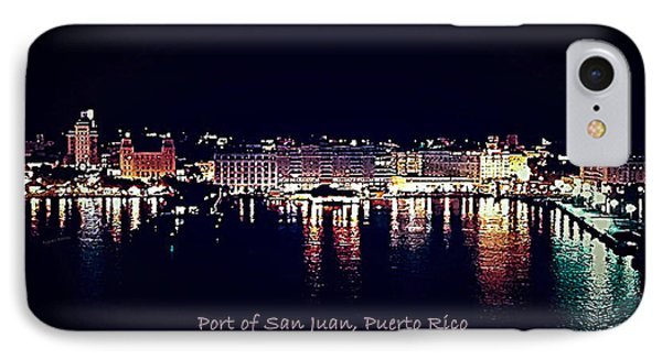 Port Of San Juan Night Lights IPhone Case by DigiArt Diaries by Vicky B Fuller