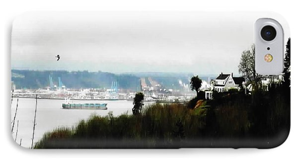 Port Of Tacoma At Ruston Wa IPhone Case by Sadie Reneau