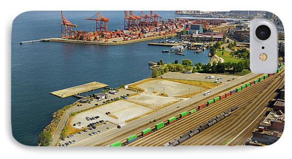 Port Of Vancouver Bc Phone Case by David Gn