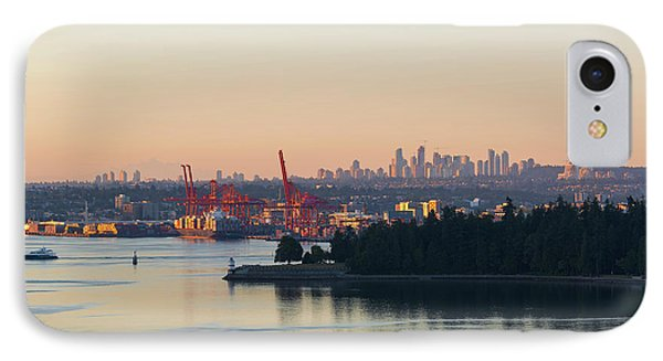 Port Of Vancouver By Stanley Park Phone Case by David Gn
