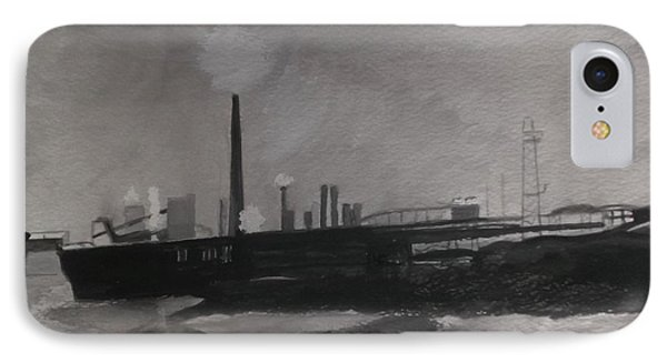 Port Talbot Steel Works IPhone Case by Carole Robins