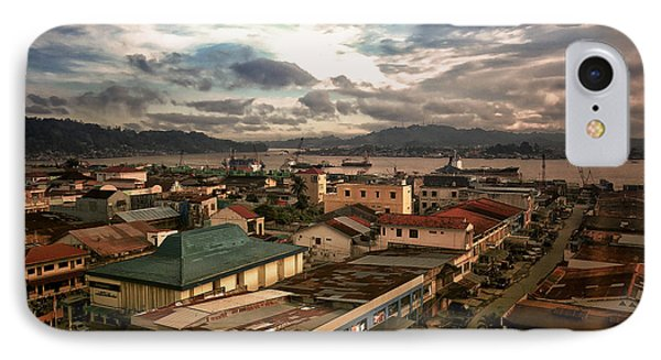 Port View At River Mahakam IPhone Case by Charuhas Images